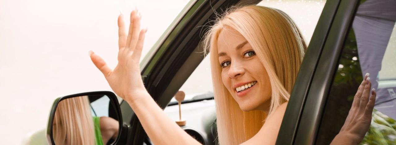 женщина такси